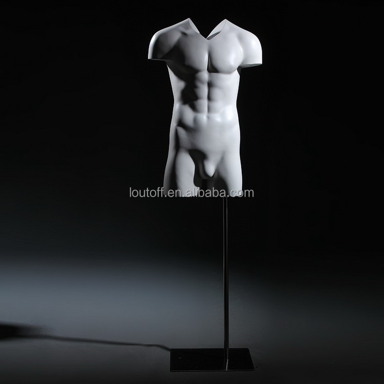 Brand new V-cut invisible 3/4 body mannequin male ghost mannequin