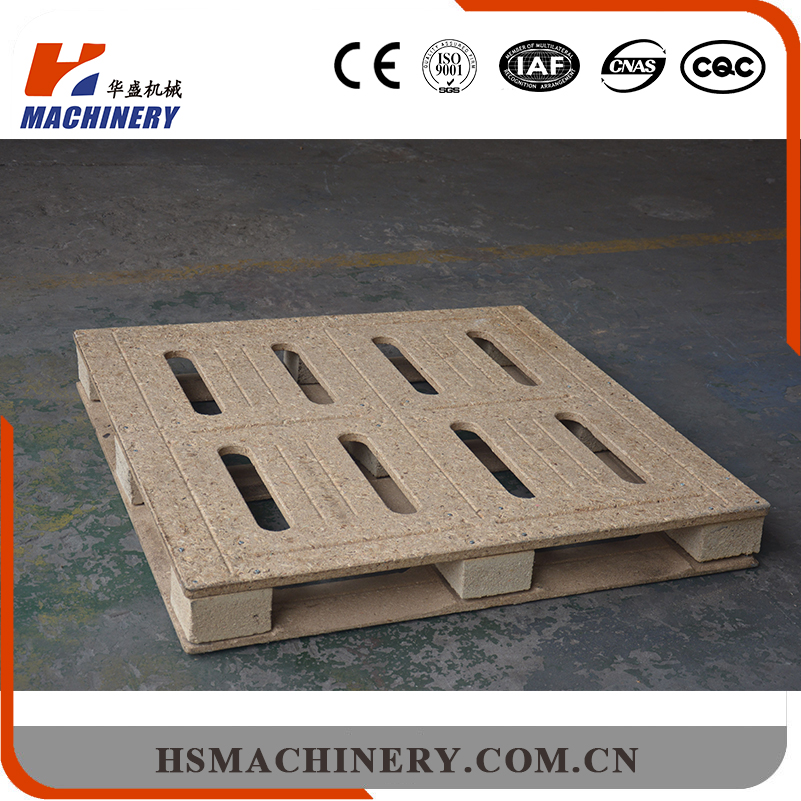 Wood fiter board presswood moulded pallet press machine