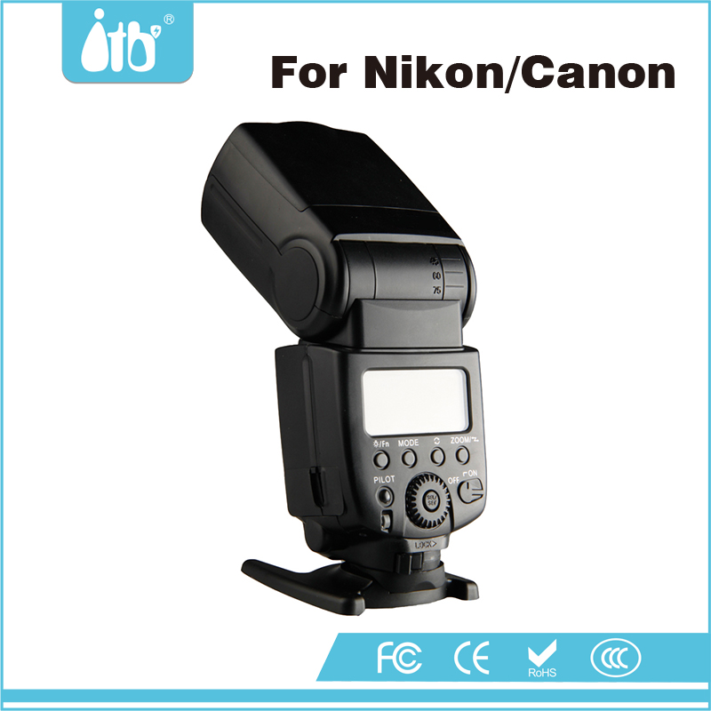 Shenzhen Supplier Universal Flash Light Photography Camera Flash for Canon 5D Mark III Nikon D750/D3300/D5300/D7200
