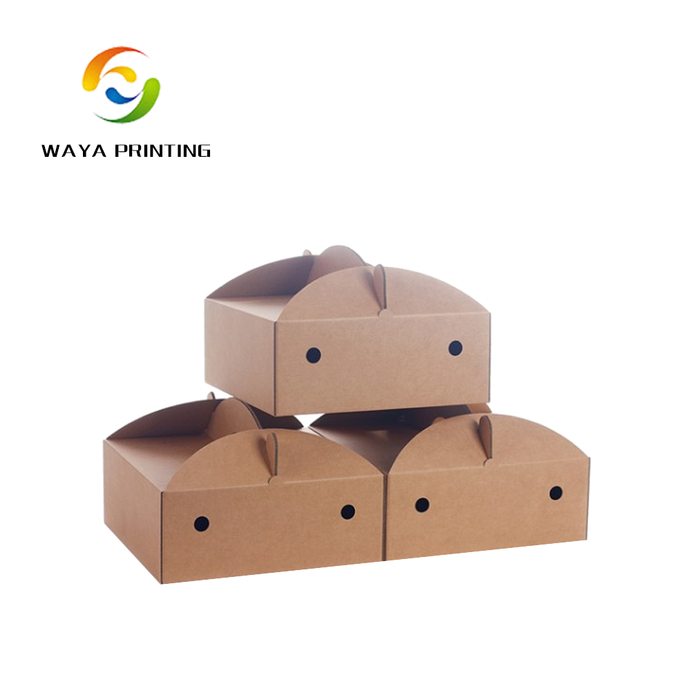 Custom made wholesale paper cake box with handle kraft paper cake box, box packaging custom paper