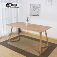manufacturer solid wood material popular classic design marble top wood dining table