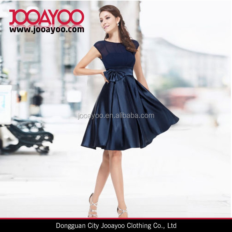 Womens High Quality Slim dress black satin casual dress patterns for satin dresses
