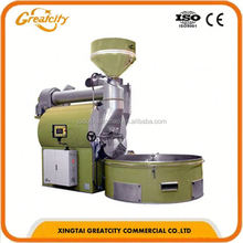 Stainless steel 6 kg gas type fresh Coffee bean roaster machine with best price for sale