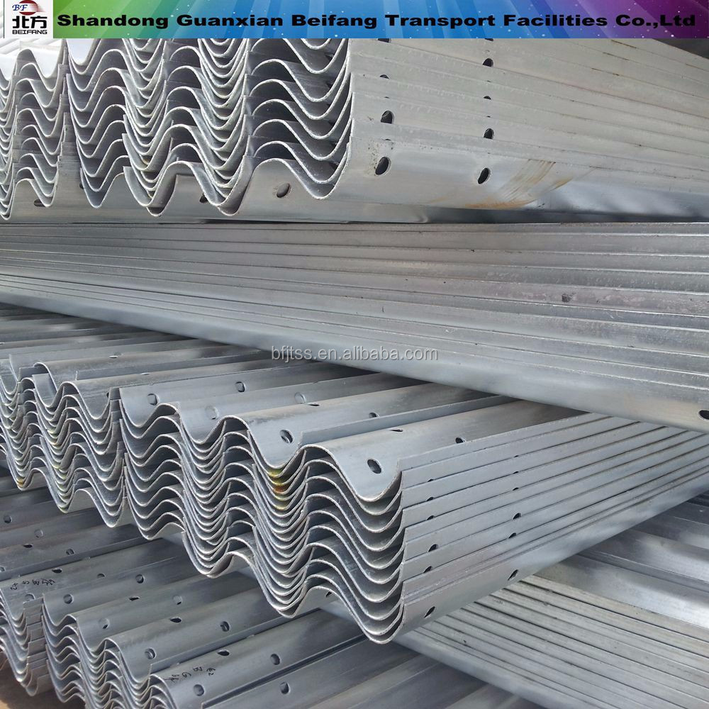 Reasonable Price Galvanized W beam Bridge nut and bolts terminal w beam guardrail price