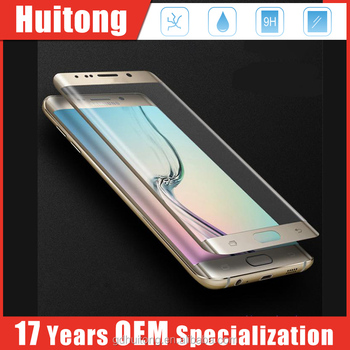 Factory supply 9H 3D curved 0.3mm tempered glass screen protector for Samsung S7 edge