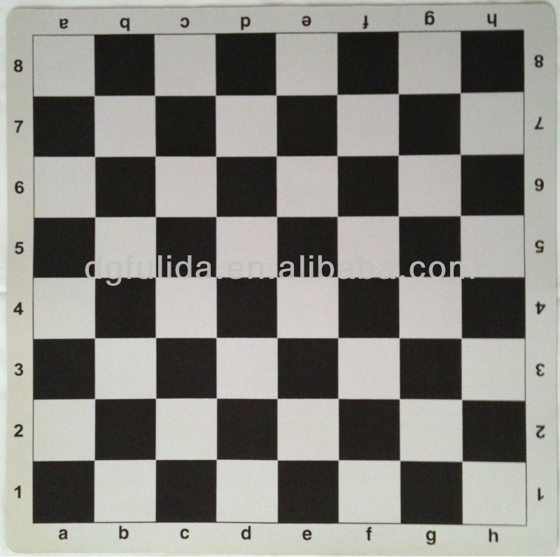 Play mat for playing chess, rubber backing high grip