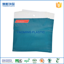 Wholesale die cut handle bag blue plastic recyclable