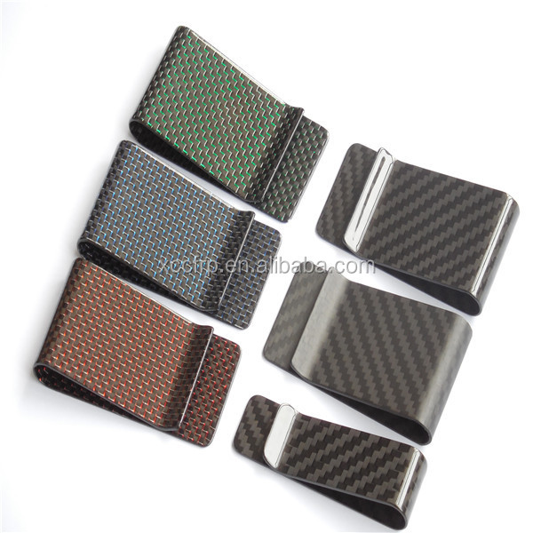 2017 new style carbon fiber minimalist money clip/wallet with box case