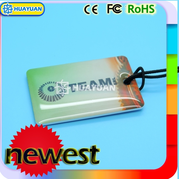 Fitness member system 13.56MHz NFC ntag213 keyring epoxy tag