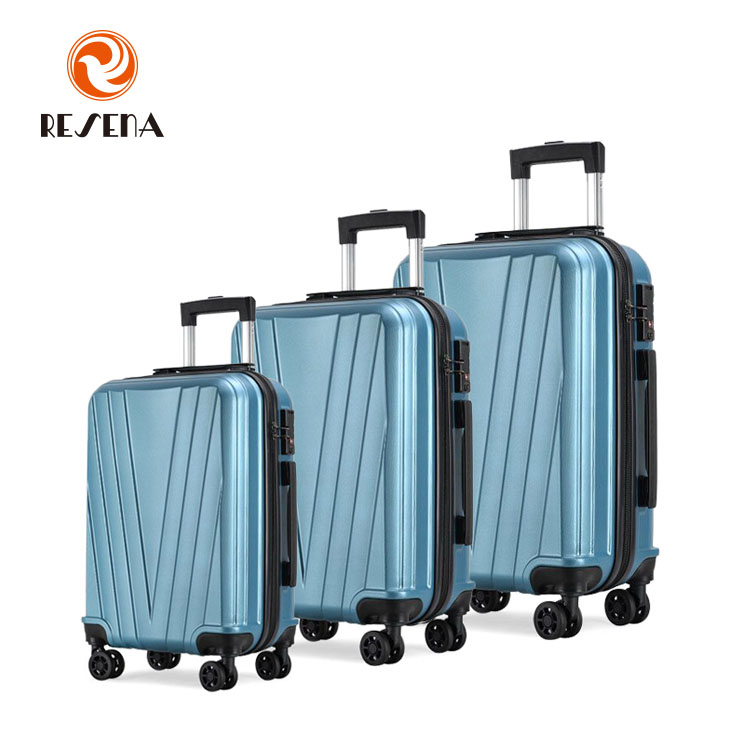 high quality <strong>abs</strong> pc trolley luggage set 20'' 24'' 28''luggage bag travel luggage