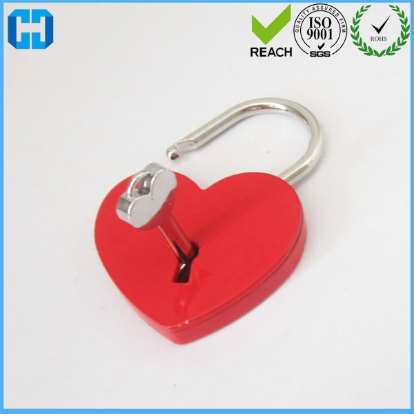 Personalised Red Plated Padlock Lovelock With Key For Dog Tag