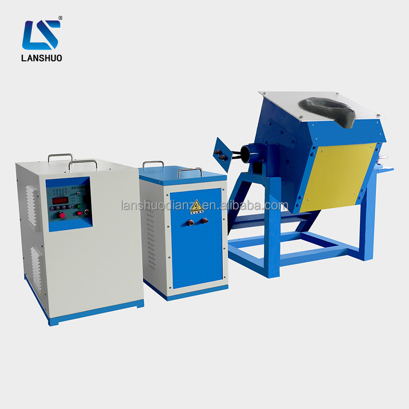 Tilting type small gold and silver platinum precious metals electric melting induction furnace