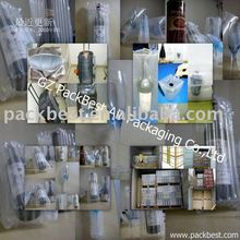 reusable void fill bag/air bladder packaging for winebottle