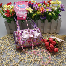 Factory sale direcktly Kids cheap PVC bling pouch handbag