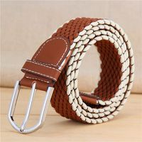 New Fashion Blue Mens Cotton Belts Elastic Belt