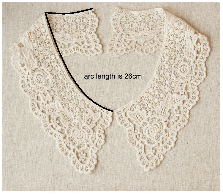 100% Cotton Embroidery Crochet Lace Neck Collar For Garment