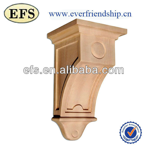 2014New Style CHEAP hand carved decorative wood corbels(EFS-CD-16)