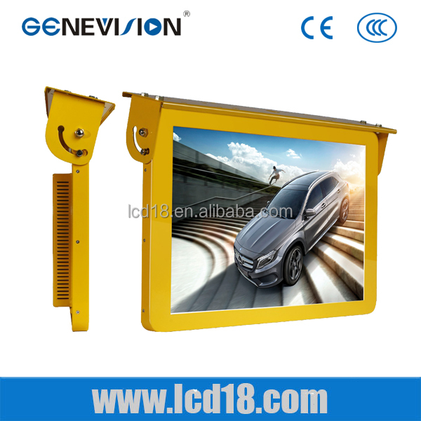 "12V 24V 22"" 32 inch TFT lcd screen Andorid system remote update advertising display bus lcd monitor"