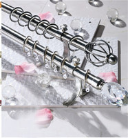 China supplier acrylic decorative end caps luxury curtain rods