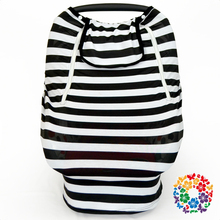 2017 Newest Design Car Seat Cover Black & White Stripes Funny Car Seat Covers Stylish Baby Car Seat Cover
