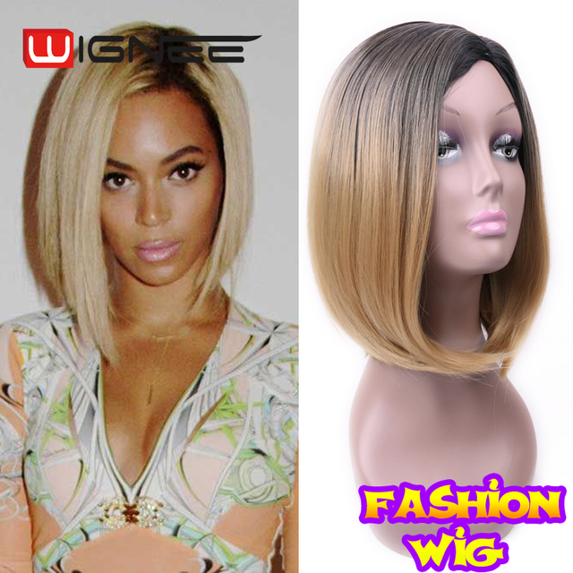 2017 Fashion Design Short Hair cut Bob Wigs Skin Top Non Lace Synthetic Wigs Factory Direct Wholesale