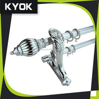 KYOK Factory direct supply curtain metal pole, elegant shape curtain finial/end caps, quality and quantity ass curtain bracket