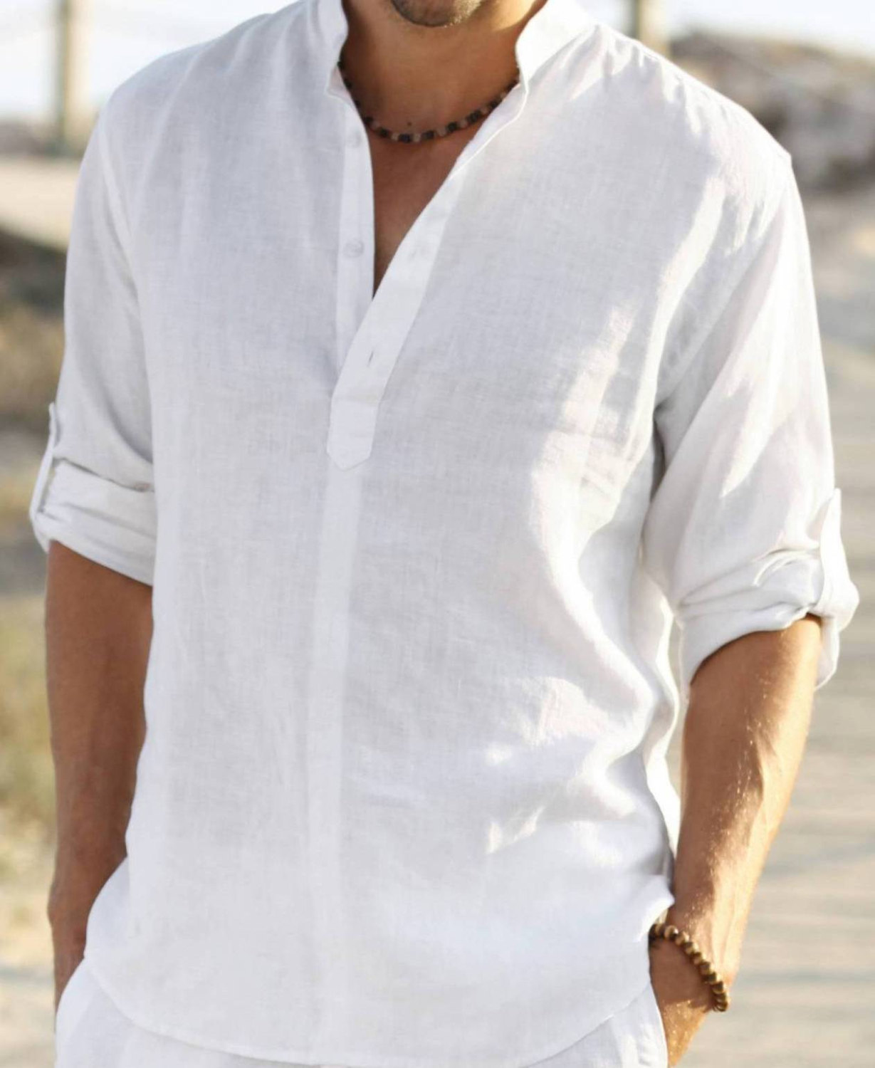 Mens Linen White Shirt,Long Sleeve - Buy Mens Linen Shirt White ...