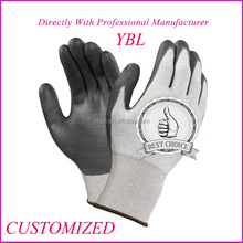 Polyester knitted glove with PU coated manipulation dexterity glove