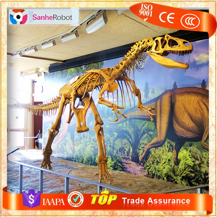 Original Dinosaur T-rex Fossil Replica life-size prehistorical animals skeleton