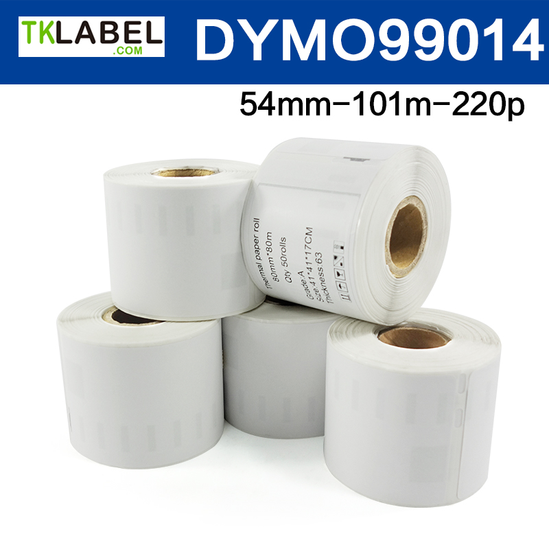10 Rolls x Dymo compatible <strong>Labels</strong> 99014 Dimensions 54mm x 101mm