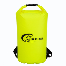PVC tarpaulin swimming dry bag backpack, custom logo dry backpack with shoulder straps