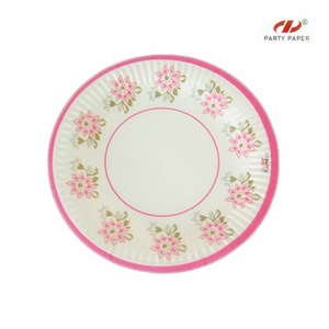 Natural make bulk dinner paper plates with customized