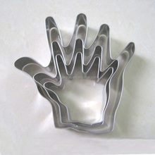 Grosir Stainless steel baking alat Tangan bentuk cookie cutter set