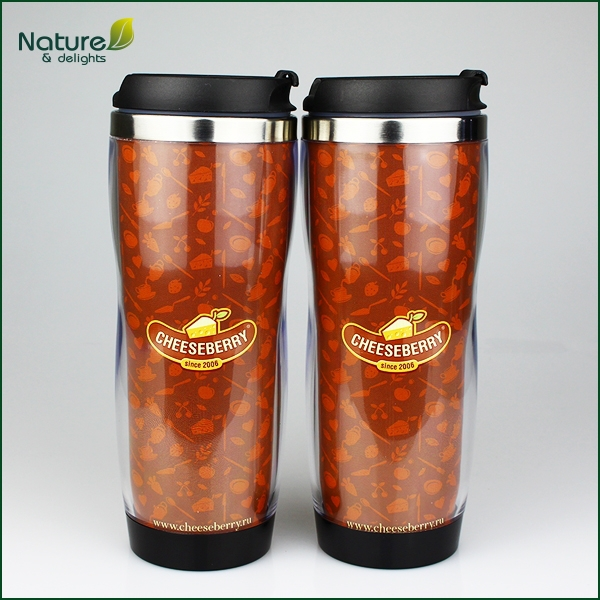 14oz/400ml Double Wall Stainless Steel Customizable Travel Mug with Paper Insert