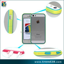 two tone color bumper case cover for iphone 5