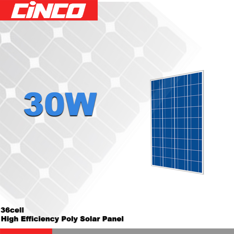 30W poly crystalline solar panel, 6 volt solar panel, 12 volt solar panel