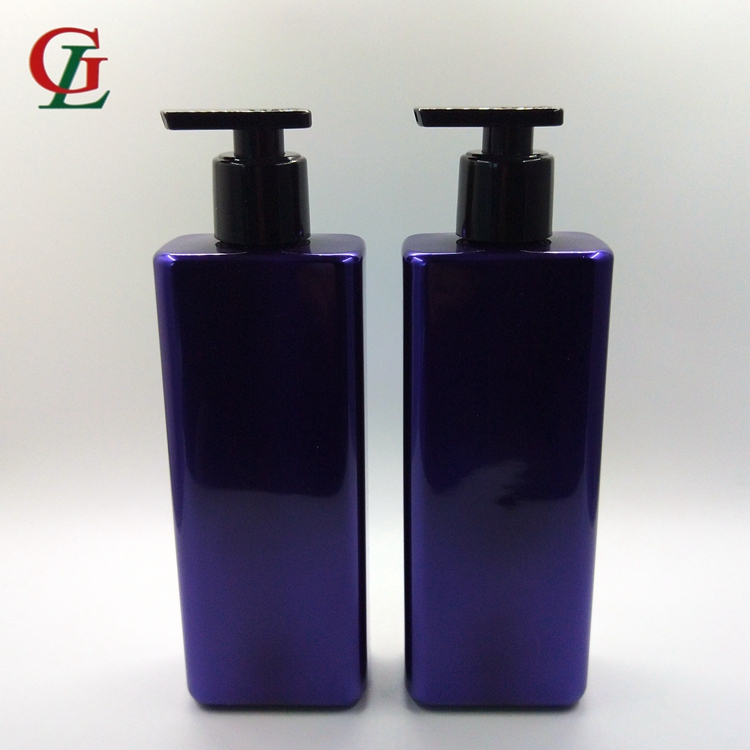 High quality 16 oz plastic bottles, colorful shampoo bottle cosmetic hair lotion bottle for personal care