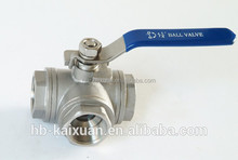 cf8m 1000wog stainless steel 3 way ball valve