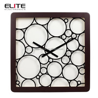Square shape quartz wood antique chinese clocks