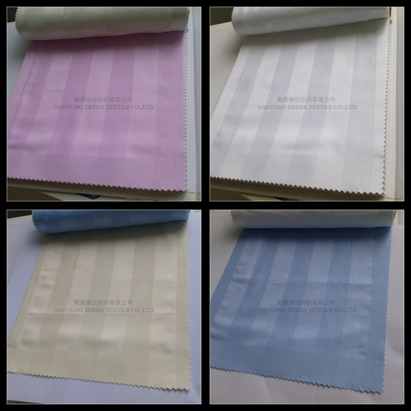 300T colors 100% cotton satin stripe fabric