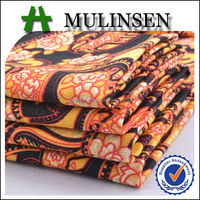 Mulinsen Textile Retro Design Woven Sateen Printed Cotton Fabric Indonesia