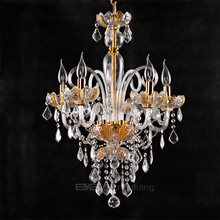 Wall shenzhen diamond gold acrylic beaded chandelier crystal fabric modern pendant lamp 2105096
