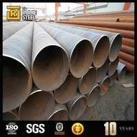 double-side spiral submerged-arc welded steel pipe gas pipeline materials , building ship pipe