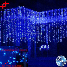 Outdoor waterproof 6*3M 600 leds multicolor curtain Waterfall Led string light
