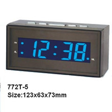 Mini yellow LED digital table clock display