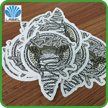 Die cut label sticker Customized logo printing label stickers