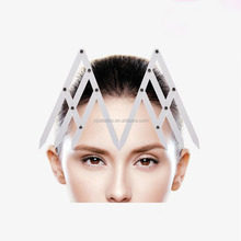 Transparent Shaping Eyebrow Ruler Factory Low Price Eyebrow Stencils Plastic Eyebrow Ruler For Permanent Makeup