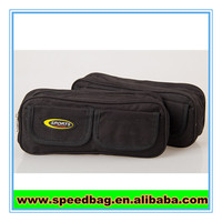 High quality office use professional sports pen case black pencil bag