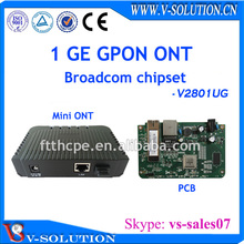 Based on BCM6838, with router, NAT, PPOE function GPON ONU 1GE ONT