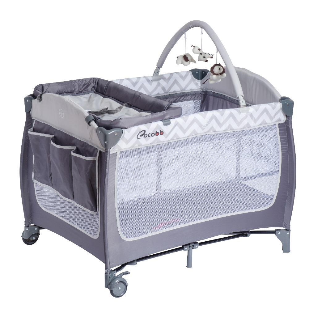 foldable travel portable swinging multifunctional luxury baby crib